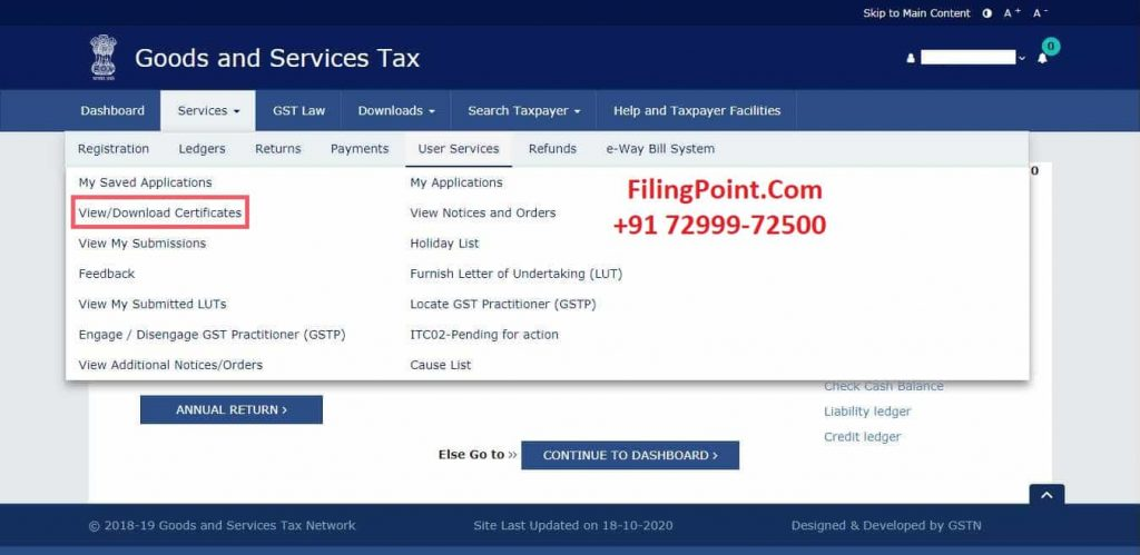 how to download gst composition certificate  - FilingPoint